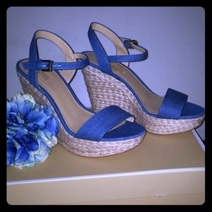 Michael Kors Denim Blue Wedges
